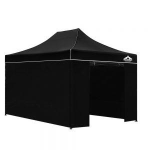 3x4.5m gazebo black