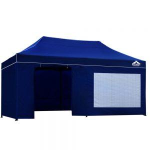 3x6m gazebo blue with side panels