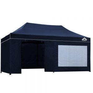 3x6m gazebo with side panels navy