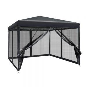 gazebo with mesh sidewalls