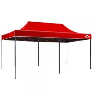3x6m gazebo red