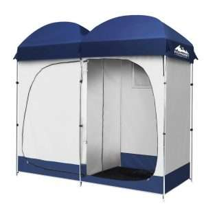 double shower tent