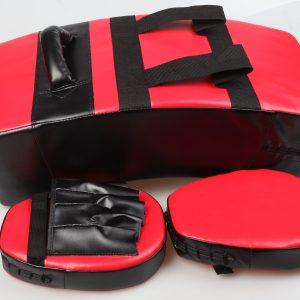 kick boxing mitts and shield