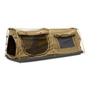 khaki king double camping swag